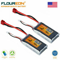 2Pcs 2S 7.4V 1500mAh 35C LiPo RC Battery Pack T Plug For RC Car Boat Helicopter