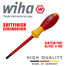 Wiha 30701 Electrician Vde Slotted Pozidriv Pz2 Screwdriver Insulated Softfinish