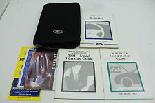 01 Ford E-Series Econoline Van Vehicle Owners Manual Handbook Guide Set