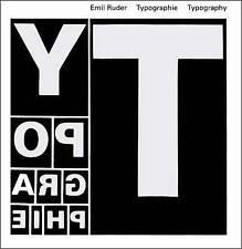 Typography: A Manual of Design by Emil Ruder (Hardback, 2008)