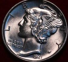 Uncirculated 1941-D Denver Mint Silver Mercury Dime