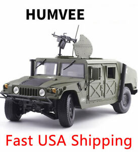 1:18 Scale Diecast Car Model Toys Humvee Military Battlefield Vehicle Replica