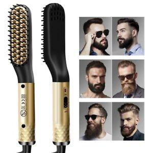 Electric Beard Hair Straightener Quick Heated Brush Straightening Comb Curling