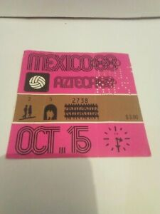 Vtg Mexico 1968 Olympic Games Ticket soccer 15 octubre