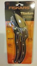 Fiskars 6-3/4 in. Titanium Anvil Ratchet Hand Pruner - BRAND NEW