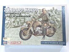 Zundapp KS750 Motocycle w/FALLSCHIRMJAGER.1:9 Dragon 1802
