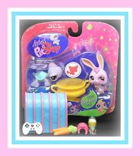 ❤️NEW Littlest Pet Shop LPS #907 #908 RABBIT Bunny TURTLE Exclusive NIB❤️