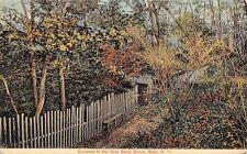 Glen NY~Picket Fence Entrance to Stony Brook c1914 Postcard