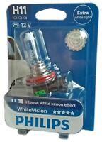 H11 PHILIPS White Vision 12362WHVB1 12V 55W Intense white Xenon Effect 1st