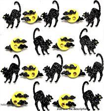 EK SUCCESS JOLEES BOUTIQUE 3-D STICKERS HALLOWEEN BLACK CAT ARCHING CATS REPEATS