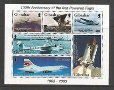 GIBRALTAR 2003 CENTENARY OF POWERED FLIGHTMINISHEET SG,MS1051 U/MM N/H LOT L217
