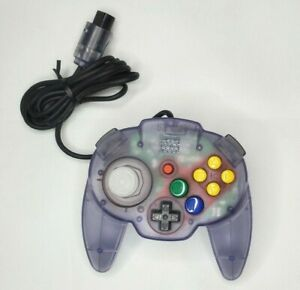 Nintendo 64 Hori Pad Mini Controller Clear Purple N64 Japan