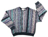 Vintage Florence Tricot Sweater Size XL COOGI Like Multi Color Biggie Cosby
