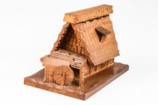 Japanese Water Mill Wood Hand Carving Small Case #20425