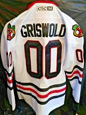 Gris wold X-mas vacation Chicago Black Hawks CCM White 46 small Men's Jersey