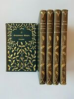Charles Dickens Christmas Carol Books 5 Volumes Complete Leather Gilt LOVELY