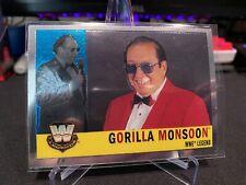Gorilla Monsoon 2006 Topps Chrome Wwe Legend 🔥