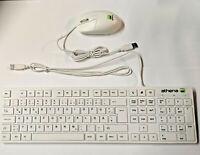 Keyboard / Tastatur Weiß + Maus PC extra slim QWERTZ USB Deutsch Computer Layout