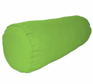 aa142g Lime Green Cotton Canvas Fabric Bolster Yoga Case Cushion Cover Custom Si