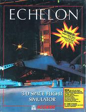 Vintage Computer Game - ECHELON - 3-D Space Flight Simulator - 1988 - NIB