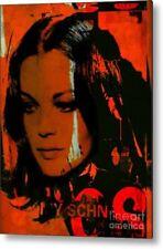 Motiv Romy Schneider Orange Pop Art/Malerei/StreetArt/Leinwand/Kunstdruck/XXL