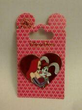 Disney New on Card Park Pin Roger Jessica Rabbit Heart Love Valentines Day