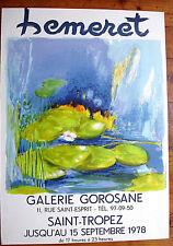 Hemeret- Affiche Lithographie Originale 1978- galerie Gorosane-st tropez