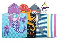 Kids Hooded Beach Towel by Juice Box, Mermaid, Unicorn, Octopus Pirate, Shark NW
