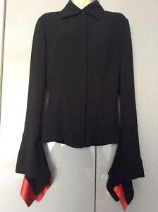 Women's black Paco Rabanne blouse size 38