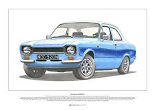 Ford Escort RS2000 Mk1 - ART POSTER A2 size