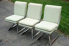 MCM Chrome Swivel Chairs After Vladimir Kagan