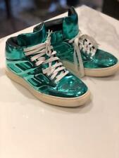 Alejandro Engelmo Metallic Blue Green Mens High Top Sneakers- Size 6