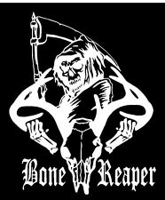 BONE REAPER White decal hunting car truck window vinyl sticker Hunting funny