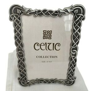 Celtic Collection Picture Frame Photo Dragon Pewter Silver Heavy Size 6x8 inch