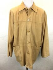 BC Jos A Bank Signature Collection XL Tan Nubuck Leather Fully Lined Jacket