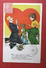 CPA. 1905. Humour. Cœur. Déclaration D'amour. Chien Azor. Coquine.