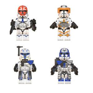 4Pcs/set Star Wars Clone Trooper Rex Commander Cody Jesse Fit Lego Minifigures