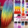 New Bulk Jumbo Braiding Hair Extension Ombre Kanekalon Twist Braid Multi Color J