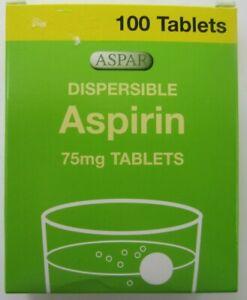 "ASPIRIN 75mg  ""LOW DOSE"" DISPERSIBLE  ASPIRIN - ONE BOX"