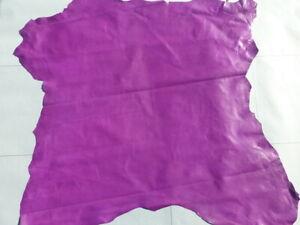 Lambskin sheepskin lamb sheep leather hide Hot Magenta Purple Ultra Thin 1 oz