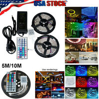 5M 10M SMD 5050 300LEDs RGB Xmas LED Strip Light Lamp 12V Power Supply Waterprof
