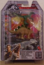 Jurassic World Mini Dino 3 Pk ~ Stegosaurus, Velociraptor, Transparent Indominus