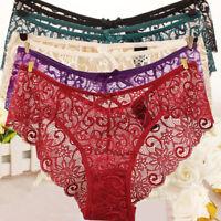 Sexy Women's Lace Thongs Panties Briefs Floral Underwear Lingerie Knicker