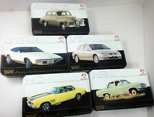 **HOLDEN Master Collection Empty Metal Tin Full Set (5)--(110 card storage box)