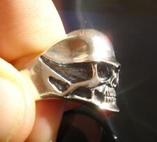 Argent Sterling 925 Custom Casque Skull Ring Biker Bijoux, Bijoux, moto
