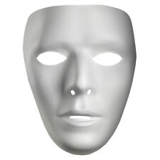Blank Male White Costume Face Jabbawockeez Disguise Mask - BOX OF 12