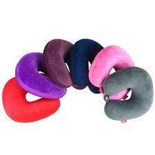 Memory-Foam-U-geformte Reisekissen Nackenstütze Kopfstütze Flugzeug Kissen