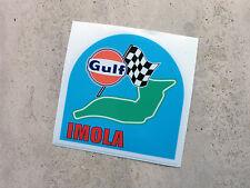 Gulf Imola racing circuit sticker 75 mm  - Gulf Licensed Merchandise