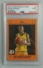 2007-08 Topps Rookie Set Orange #2 Kevin Durant RC Rookie Card PSA 9 NEAR MINT