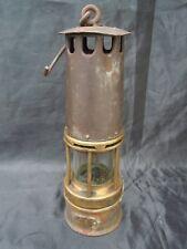 Lampe de mineur Belgique verre Baccarat lampe cuirassée